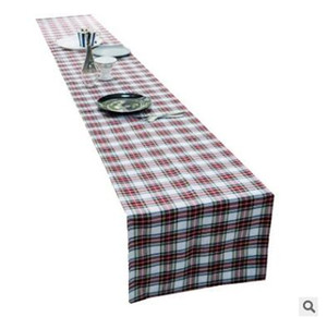 Scotland Plaid Table Runners 33*180cm 213cm 275cm Table Runners Table Decoration For Home Family Party Wedding Plaid Christmas Decoration