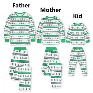 مجموعة عيد الميلاد الملابس الأسرة منامة مطابقة شجرة عيد الميلاد ملابس منامة الأطفال الكبار للأسرة القطن ثوب النوم قميص النوم الحزب