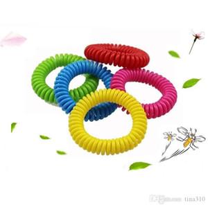 L'anello repellente per le zanzare in plastica a molla per i bambini di New zanzara di vendita caldo mano repellente cerchio T4H0243