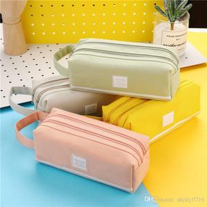 Bunte große Kapazitäts Mäppchen Taschen Kreative Korea Stoff Feder-Kasten-Beutel-Kasten-Schule-Büro-Schreibwaren Zubehör