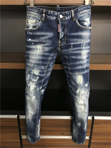 New 2020SS Style Mens D2-jeans Hole Casual Designers Slim-leg Fashionable Ripped Jeans Motorcycle Summer Trousers Pencil Pants IT 44-54 A167