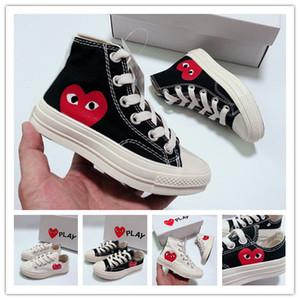 Boîte d'origine pour Hommes Femmes Courir Sneakers Haut enfants Top Skate Big Eye Fashion Casual chaussures size23-35