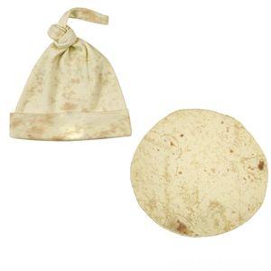 Burrito Hats & Caps Hats, Scarves & Gloves Blanket Child Flour Tortilla Blanket Sleeping Swaddle Wrap Hat Set Creative Home Accessories Slee