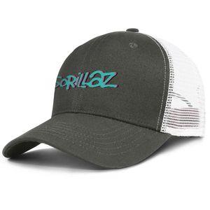 Gorillaz band logo army_green for men and women trucker cap baseball design custom Hipster hats