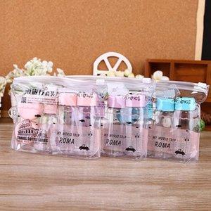 Portable Travel Mini MakeUp Container Bottle 7pcs set Plastic Transparent Empty Eyeshadow Makeup Face Cream Pot