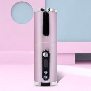 USB Şarj edilebilir Akülü Elektrik Sihirli Saç Curling Demir Seramik Waver Mini Oto Curling Wand Merdane Kablosuz Otomatik Saç bigudi