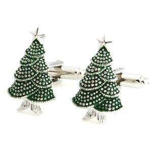 YH-1343 Nouveauté flocon de neige, cerf, Arbre de Noël Boutons de manchette pour Noël Cadeaux -Factory vente directe