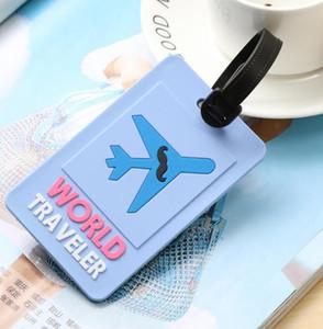 DHL 100pcs التي الأمتعة الكلمات العالمي الطباعة المسافر السفر الملحقات هلام السيليكا حقيبة ID المخاطبة حامل الأمتعة الصعود تسمية المحمولة