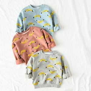 Herbst Bobo Sweatshirt Kinder Kleidung Langarm T-Shirts Baby Boy Banane gedruckt Hoodies Sweatshirts Kinder Kleidung Mädchen Tops Y190518