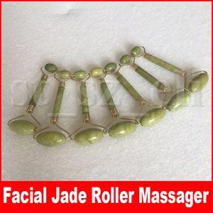 Beauté du visage naturel Outil de massage Jade Roller Face Shaper Massager Outils de relaxation pour le visage Massager Jade Roller