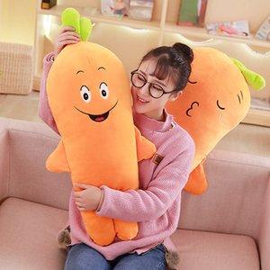 60cm & 80cm & 100cm Soft Plush Vegetables Carrot Toys Simulation Plant Carrots Pillow Stuffed Plush Plants Pillow Gifts