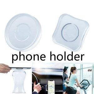 Livre DHL Universal Mobile Phone Holder Para Carro Multi-Function Nano Rubber Fixate Gel Pad para Tablet Mobile Phone suporte de mesa adesivo parede