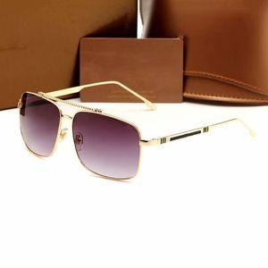 Yeni Kare Çerçeve Erkekler Lüks Tasarımcı Güneş Gözlüğü Tutum Boy Güneş Gözlükleri Açık Serin Erkekler Gözlük Moda 1035 Altın Metal Çerçeve Eyewea