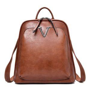 New Vintage Lady Multifunction Backpack Women Backpack High Quality Female Leather Brand Shoulder Bag Hot School Bags For Girls