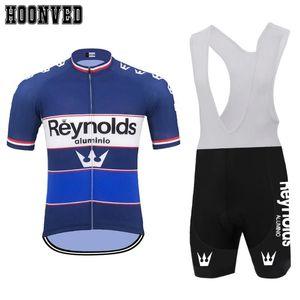 Тур де Франс Pro гонки Человек ретро blueReynolds Велоспорт Джерси Короткие рукава MTB велосипед свитер Одежда Ciclismo Hombre