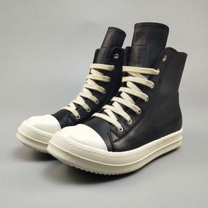 Ayakkabı Erkekler Nefes Büyük Beden Erkek Motosiklet Boots Ayakkabı için Gerçek Deri Bilek Boot 11 # 20 / 20D50