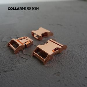 15mm pet yaka DIY Aksesuarları en kaliteli Çinko Alaşım Kaplama Metal toka CK15M 10pcs / lot için Metal Kavisli Yan hızlı Yayın Toka