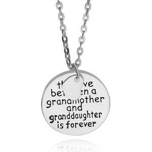 Venta caliente Nueva joyería de moda Miembros de la familia El amor entre una abuela y una nieta Collares pendientes Regalo