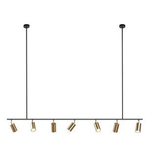 Lámparas colgantes de pantalla dorada Lámpara colgante LED GU10 Diseño nórdico moderno para luminaria de comedor de suspensión de metal