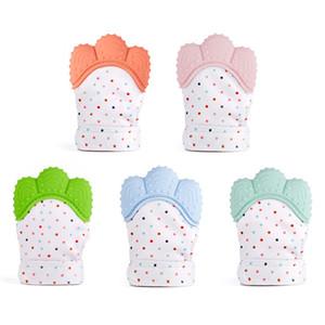 Gants molaires de bébé de silicone de catégorie com