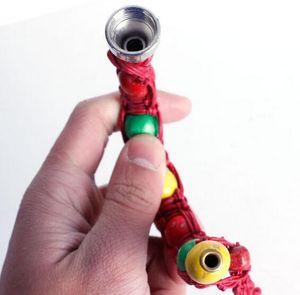 Bracciale tubo di fumo Bracciale portatile branello del metallo Pipe mano Wristband Tubi uomini / donne fredde regalo nodo della corda GGA3345-9