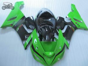 Alta qualità carenatura cinese per Kawasaki Ninja ZX6R 2005 2006 ZX 6R 05 06 verdi aftermarket nero carenature del corpo insieme