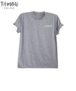 2020 New Fashion Women T Shirts Special Tshirt Drop Shiping Wave Shirt Short Ocean C864x Drop Shipping Good Quality