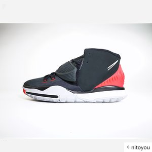 brang NKSS06 2020 Hot sale good quality Basketball Shoes Kyrie 6 6s BQ4630-002 Pre Heat VI LA NY Basketball Shoes Black-University size40-46