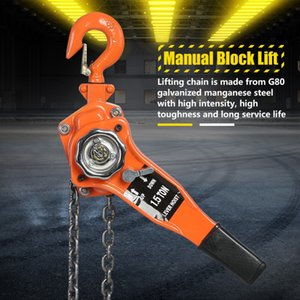 1 Set Lifting Hoist Alloy Steel 1.5Ton 10ft Lever Chain Hoist Ratchet Puller Lifting Equipment Car Accessories