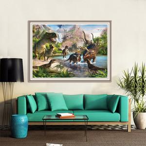 5D pleine ronde bricolage diamant peinture Cartoon Dinosaur broderie diamant Photo Mosaic Animaux Accueil Chambre Décoration murale Cadeaux