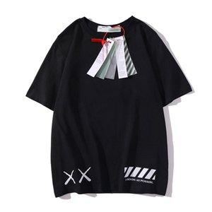 맨즈 T 셔츠 여름 패션 캐주얼웨어 OFF 블랙스럽고 하얀 짧은 소매면 셔츠 남여 인쇄 꼭대기 티 S-XXL를 여자