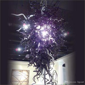 Estilo de Tiffany 100% aire libre del envío larga escalera Lámparas al por mayor de la boda del soplado a mano lámpara de cristal