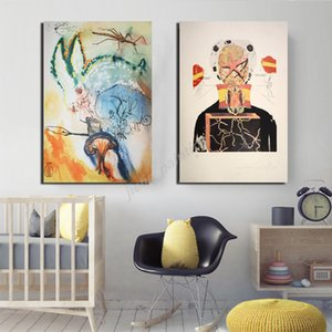 Salvador Dali Sleeping Clock Abstract Subconscious Poster Canvas Painting Print HD Pictures For Living Room Bedroom Home Decor