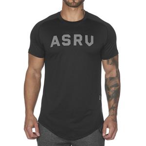 Männer-T-Shirt Fitness-beiläufige Art dünner Rundhals T Shirts Tops Herren Short Sleeve T-Shirt mit schwarzem und weißen T-Shirts Asiatische Größe