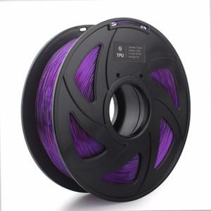 Бесплатная доставка Гибкий 3D-принтер накаливания TPU Flex пластик для 3D-принтер 1.75 мм 1 кг 3D печатные материалы фиолетовый цвет