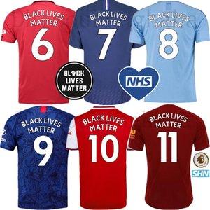 Man Utd Pogba Futbol Formalar SİYAH MADDE NHS 2019 20 şehir Futbol forması Benatia ZIYECH BOUFAL Belhanda BOUTAIB Maillots de ayak LIVES