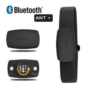 Magene Herzfrequenzmesser Bluetooth4.0 ANT + Sensor für GARMIN Bryton IGPSPORT Computer läuft Sport w / Brustgurt MHR10-Update