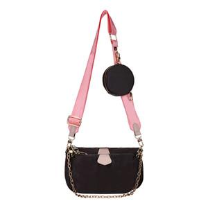 Rosa Sugao 3pcs tracolla donna borsa crossbody / set borse del fiore lettera portamonete cuoio dell'unità di elaborazione del sacchetto di spalla 2020 nuovi stili