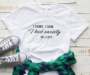 Skuggnas New Arrival I Came I Saw Had anxiety So left Tumblr T-shirt Women Graphic Slogan Tee Funny Shirts For Teen Clothing