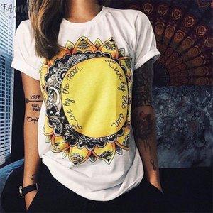European T Shirt For Women Summer 2020 Vibe With Me Print Punk Rock Fashion Graphic Tees Women Designer Clothing