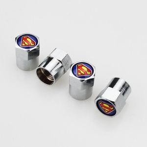 Superman Spider GTR Nismo Z Coche Mini Tapas de válvula de neumático Rueda Cubierta de aire y polvo Cubierta de boquilla Boquilla 13 * 9 mm aptos para KIA Opel NissanEnvío gratuito