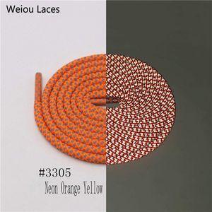Weiou 5mm Rodada 3 M Laces Safty Reflexivo Bootlace Correr Shoelaces Caminhadas Shoestrings para Sapatos de Basquete