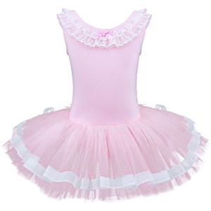 Meninas da criança de ginástica ballet collant tutu dance dress mangas crianças dancewear clothing princesa bailarina fada festa traje y19061801