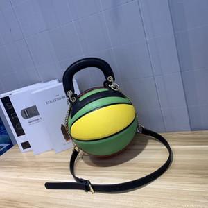 2020 yeni stil yuvarlak sırt çantası, basketbol tarzı yaratıcı çanta, çanta tek omuz zincir eğik çapraz çanta
