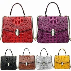 Transparent Designer Crocodile Shoulder Bag 2020 Hot Fashion Scarf Wild Crocodile Shoulder Bag Retro Small Round Bag#841