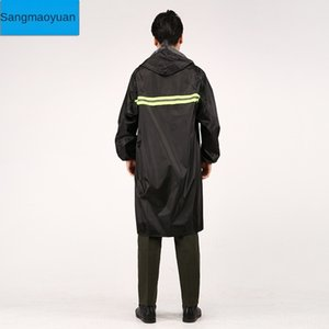Bg068 Long conjoined adult male and female construction site labor protection guard outdoor hiking waterproof Long raincoat jumpsuit adult r