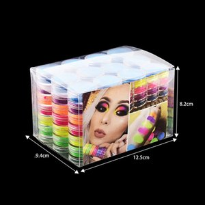 Moda Neon sombra em pó 6colors maquiagem dos olhos Sombra Set Hot pó Olhos 6pcs Jogo da composição prego DIY Art Pó
