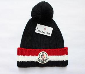 bloc broderie Bonnet crâne Caps en cachemire tricoté épais bonnet de laine hip-hop rue chaud chapeaux parent-enfant amoureux couple marée adulte Children06