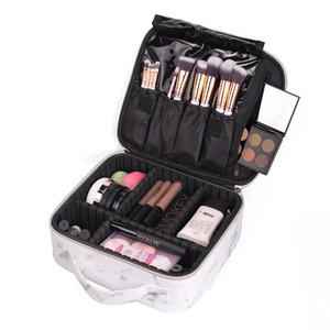 New Professional Makeup Bag Women Cosmetic Case High Quality Pu Leather Korean Make Up Box Large Travel Storage Box Wash Bag