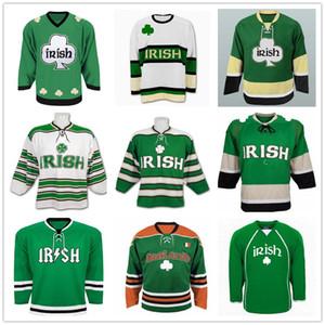 Пользовательские Святого Патрика День Ирландское Pubcrawler Ирландии Shamrock ретро хоккей Джерси Зеленый Белый прошитой Любое имя Ваш номер Customized Vintage